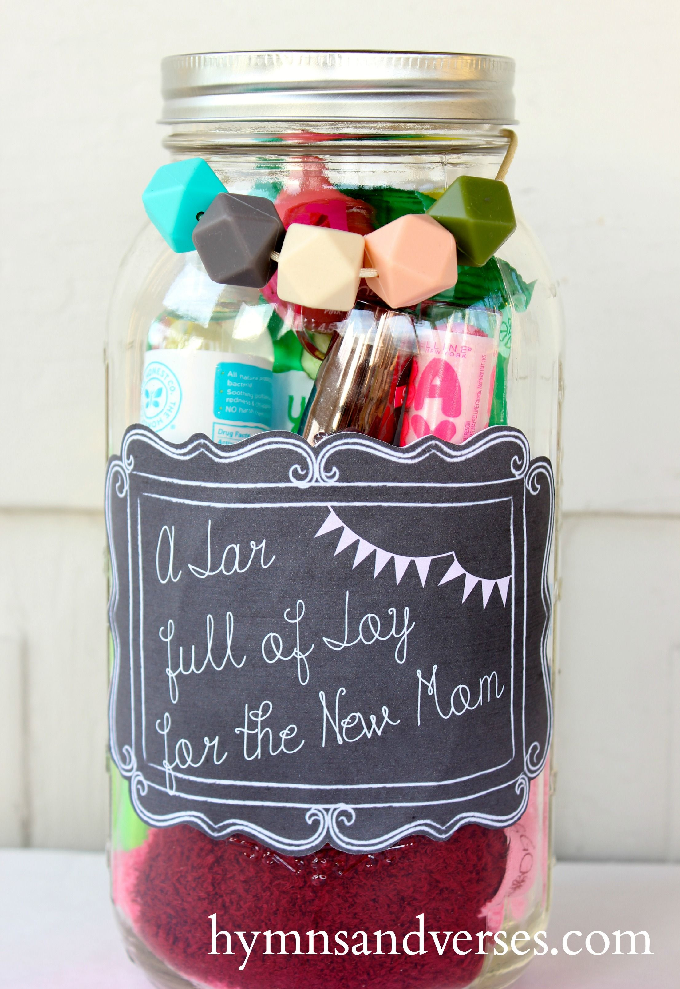 Diy Mothers Day Gifts From Baby Mason Jar Gift For The New Mom Mom Pinterest Jar