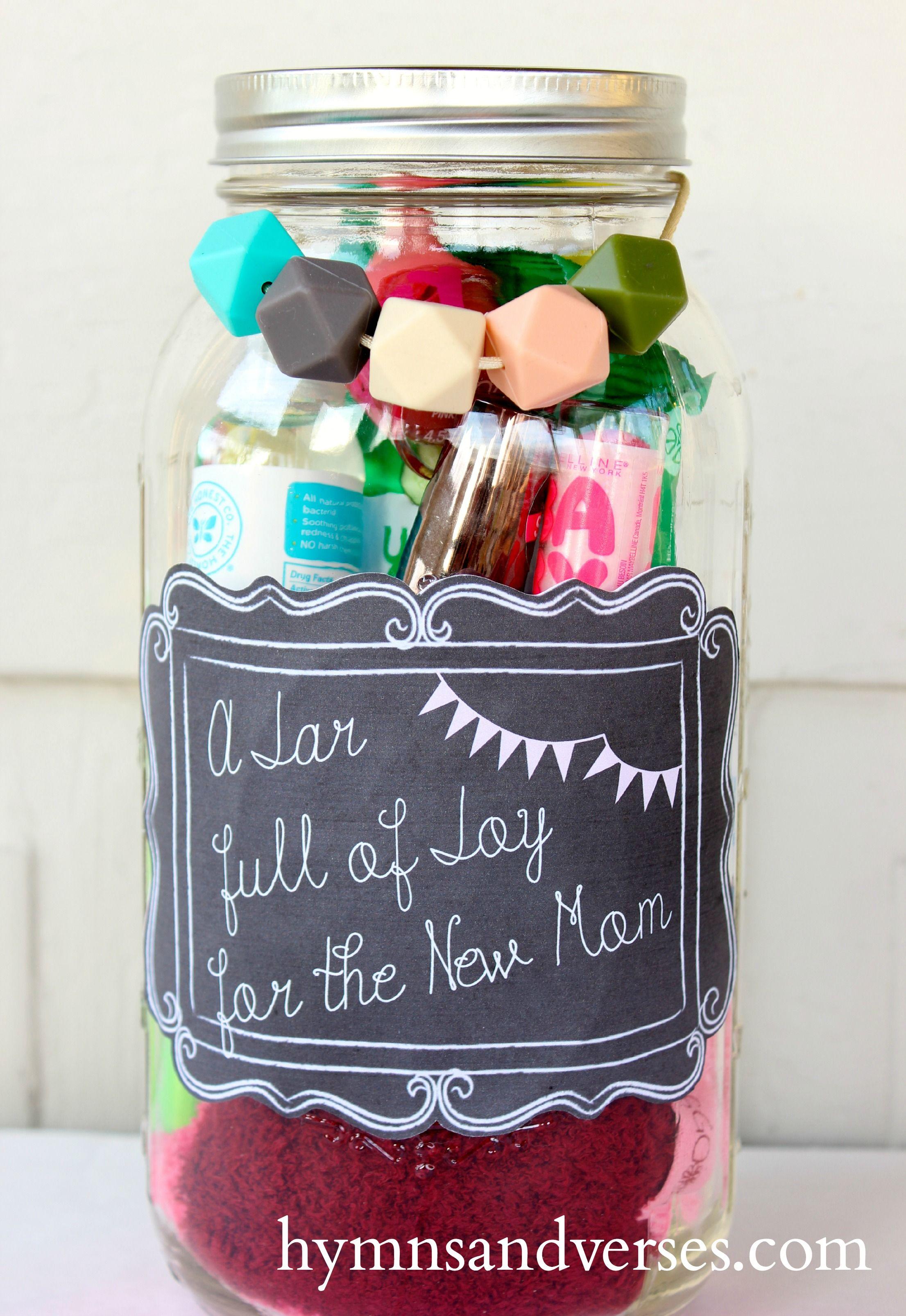 Mason Jar Gift For The New Mom Mason Jar Gifts Diy Mom Gift