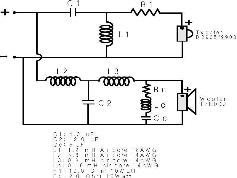 Soft Wiring Dividing Network Diagram Electronic Circuit Projects Tweeter Electronic Circuit Design