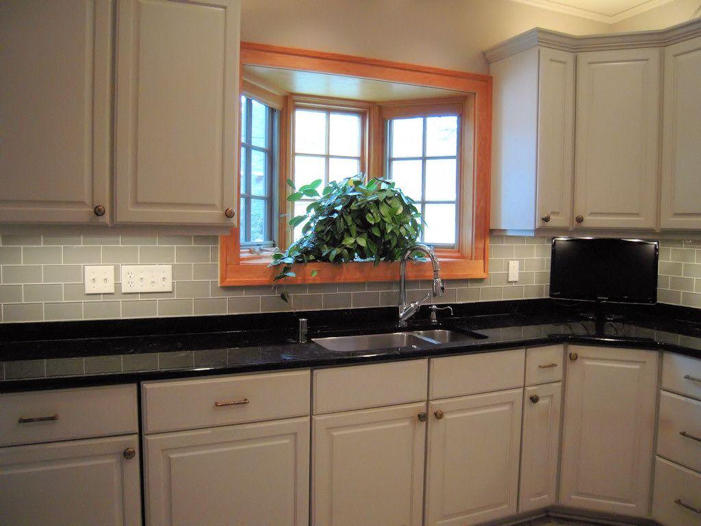 House Design Kitchen Glass Tile Backsplash Pictures In Black