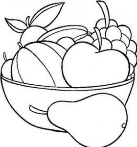 Desenhos Frutas Colorir Semana Alimentacao 3 Frutas Para