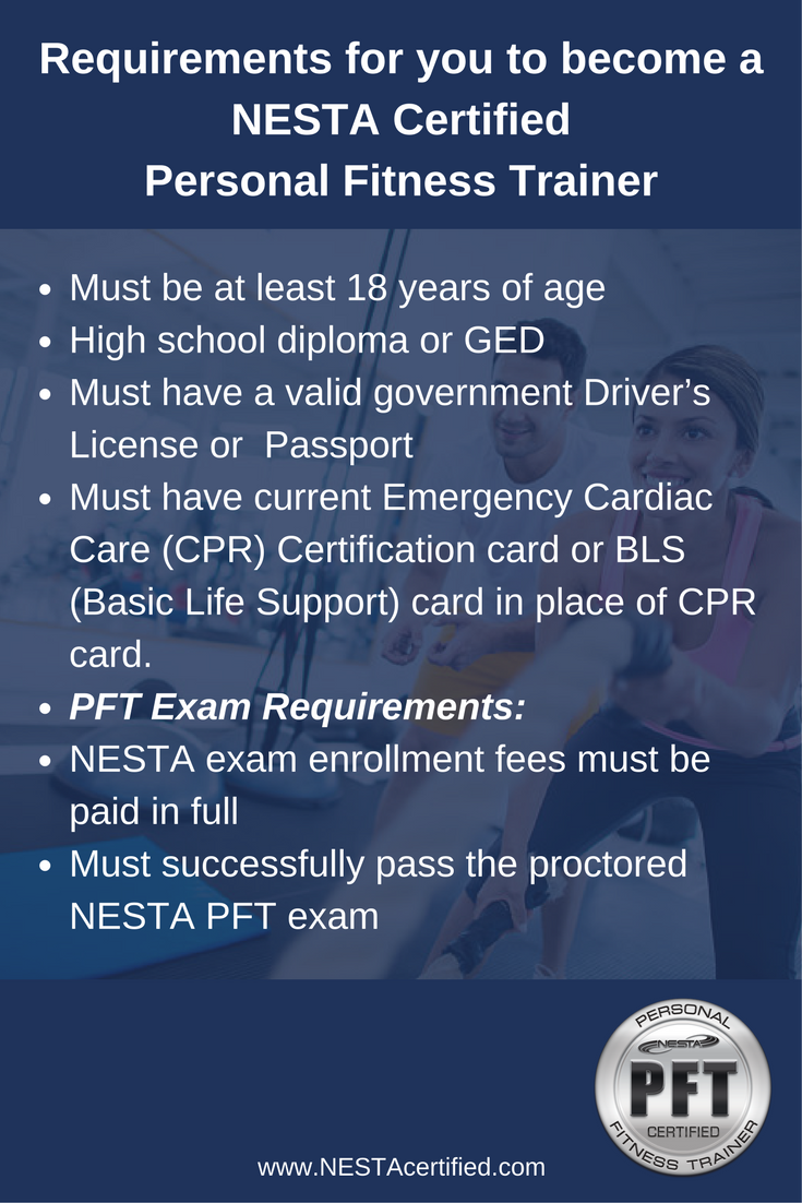 Requirements For You To Become A Nesta Certified Personal Fitness