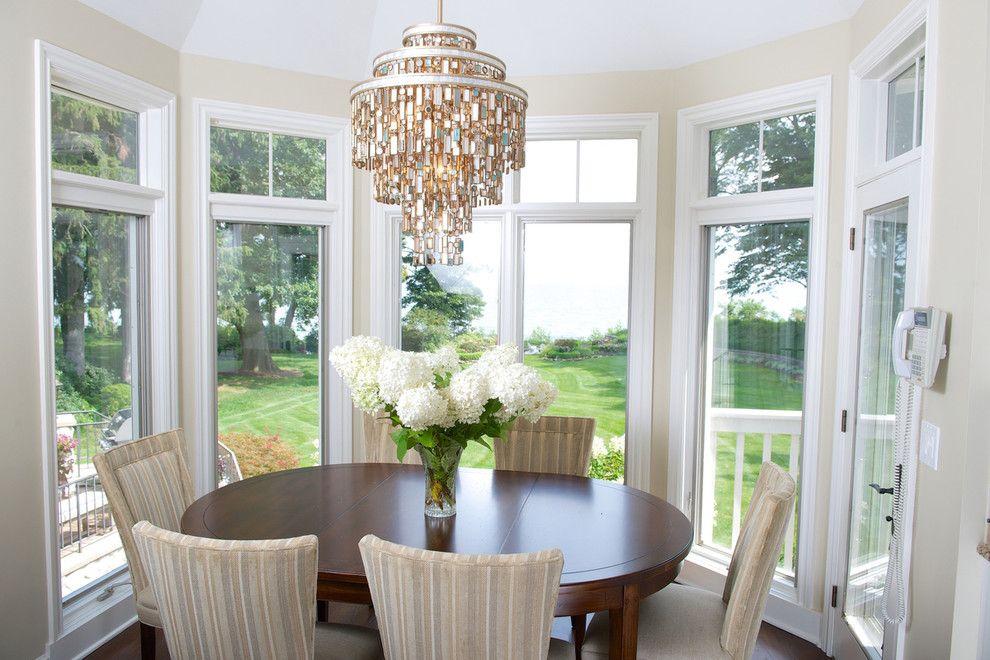 Breakfast Nook Lighting Dining Room Eclectic with Accessories Aqua Beach Glass