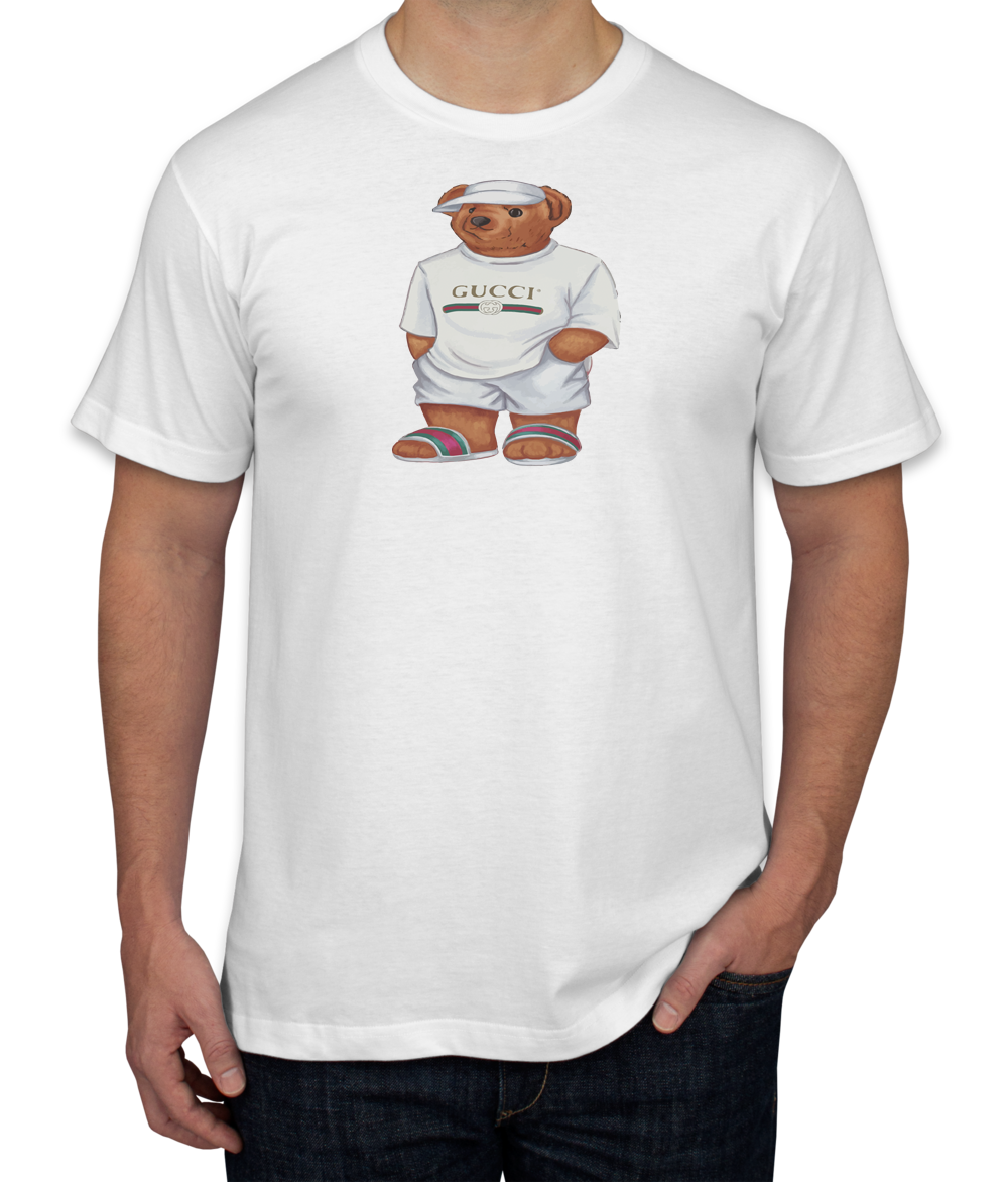 39f82d3e Life's Gucci Bear Men's T-shirt | TEEFLAT | Gucci hoodie mens, Gucci ...