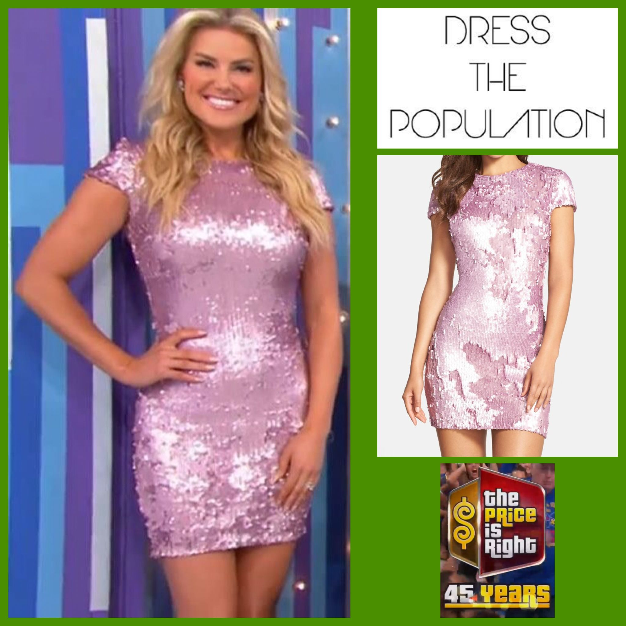9ded2768162 DRESS THE POPULATION  Arden  Sequin Body-Con Dress in Orchid Pink worn by  Rachel Reynolds