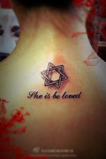 Star of david tattoo design wrestling pinterest for Star of david tattoo designs