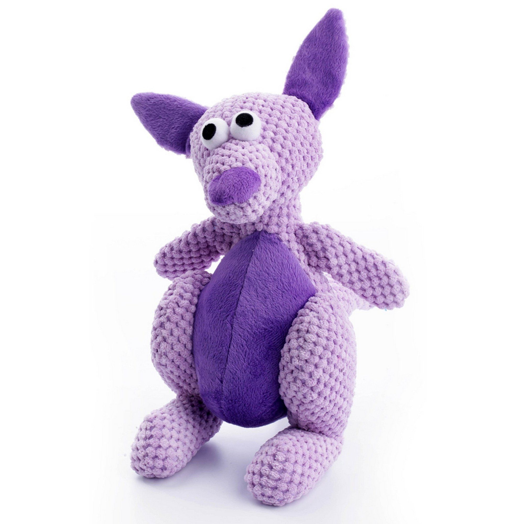Go Dog Checkers Kangaroo Toy With Chew Guard Large Purple You