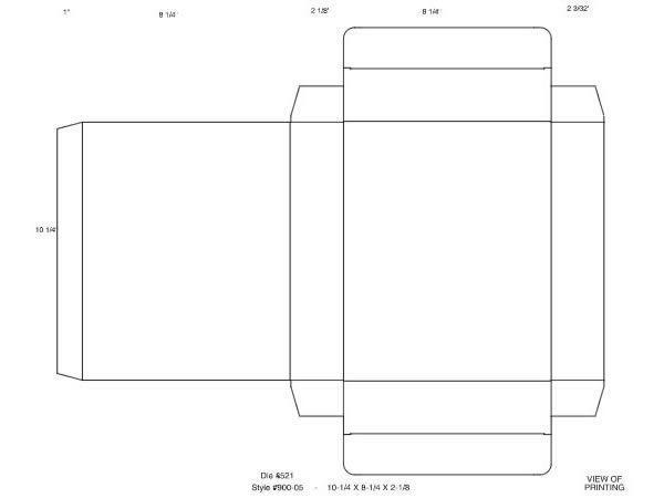 Present Box Template | Box Template Macintosh EPS | Templates ...