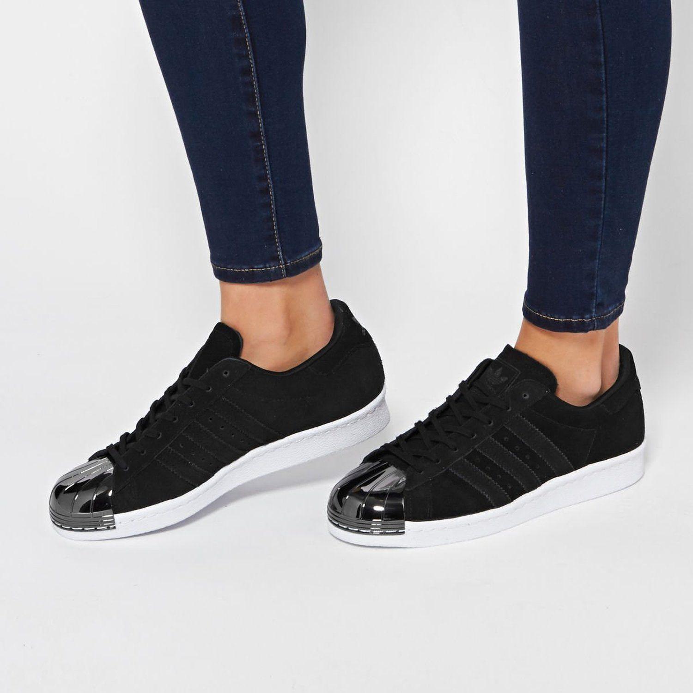 582b4aa920b40 Amazon.com   Adidas Women's Superstar 80s Metal Toe W, BLACK/WHITE ...