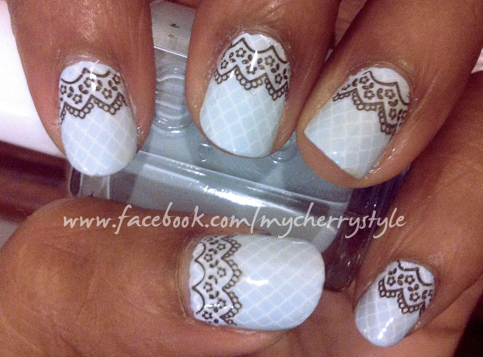 Borrowed&Blue     Bridal nail art. i'm loving it
