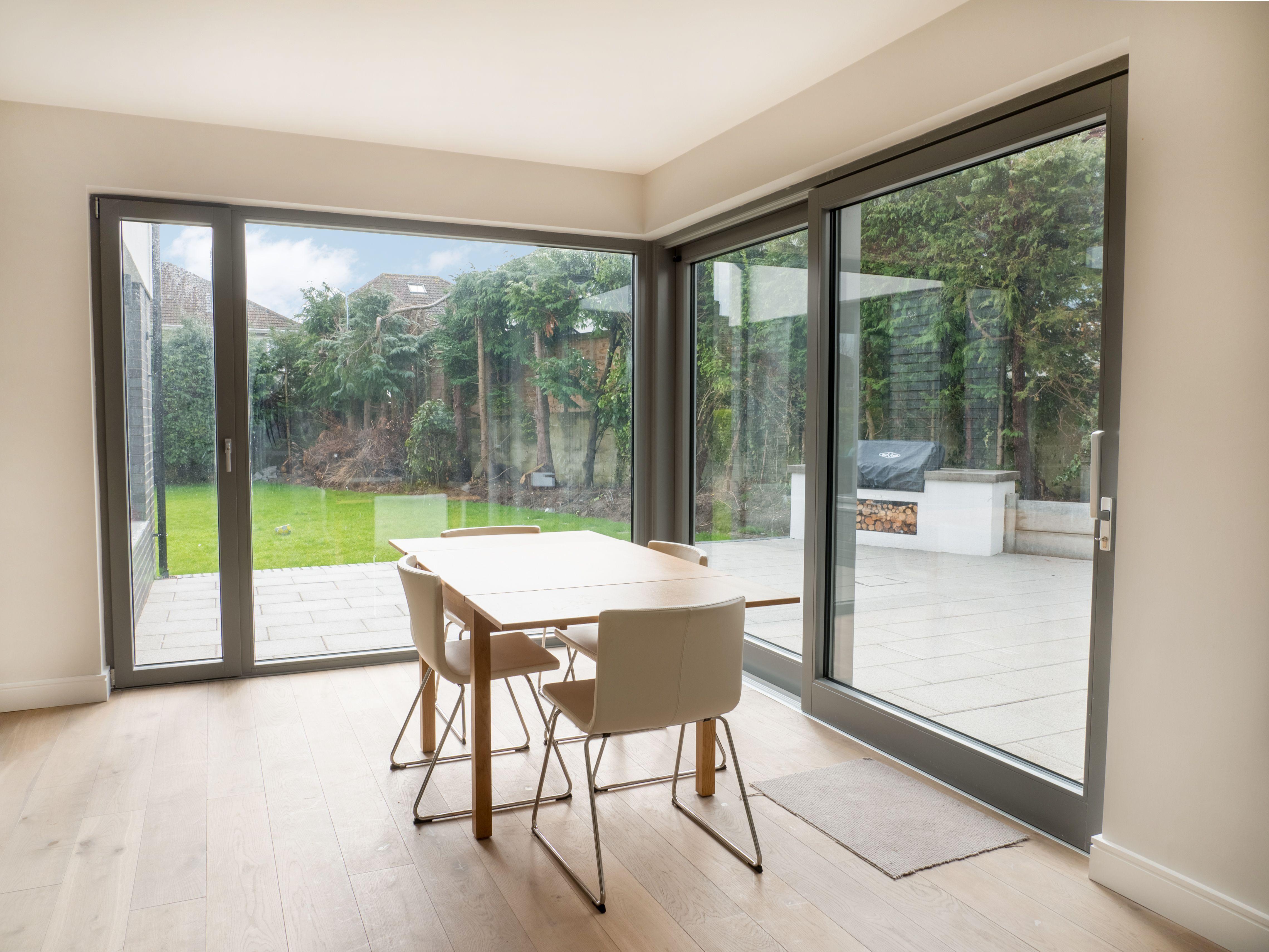 Large Corner Window Interior Aluminium Clad Wood Fixed Window Tilt Turn And Lift Contemporary Windows Contemporary House Exterior Sliding Doors Exterior