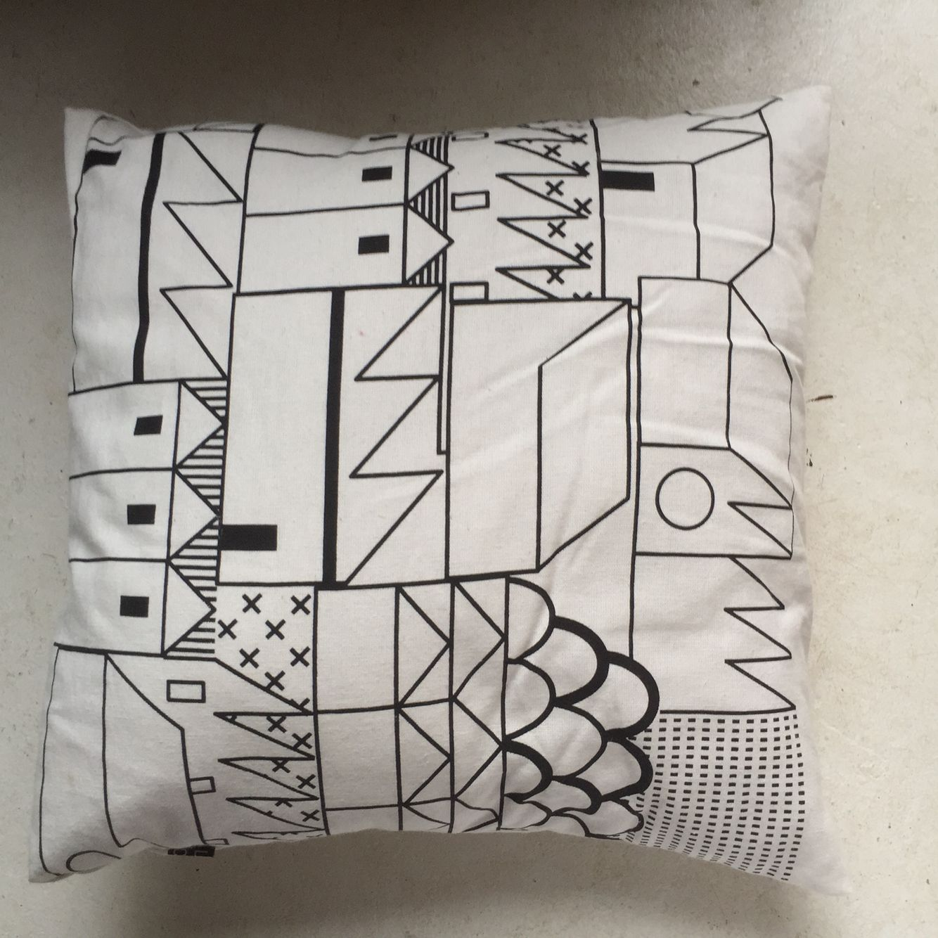 #blackandwhite #illustrated #limitededition cushion
