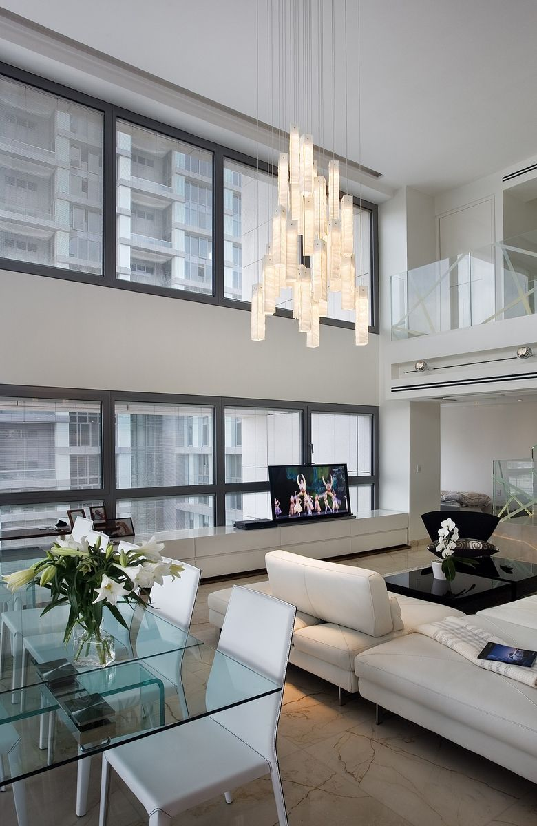Design at contemporary living room open floor to dining pendant lighting tanzania