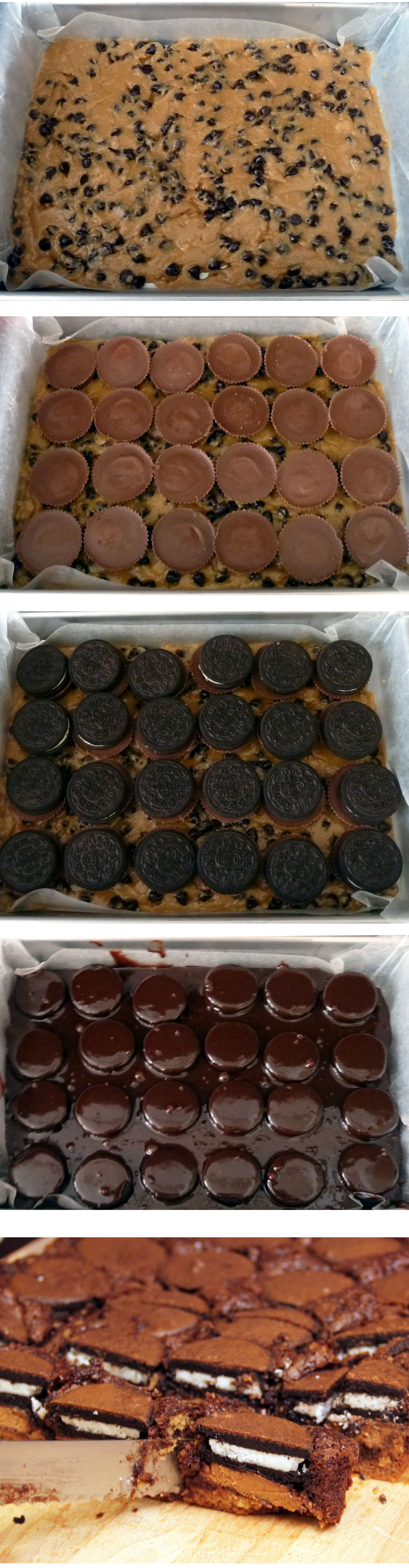 Chocolate chip cookie dough Peanut butter cup Oreo brownies...