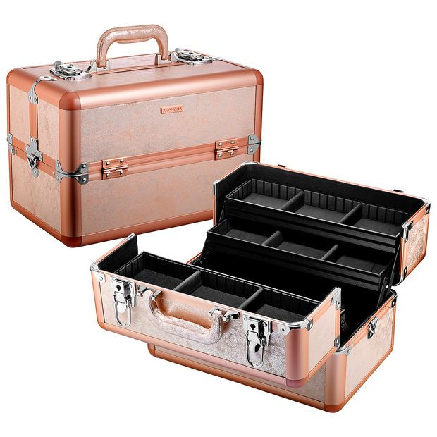 Sephora: SEPHORA COLLECTION : Rose Gold Traincase : makeup-bags-cosmetic -bags