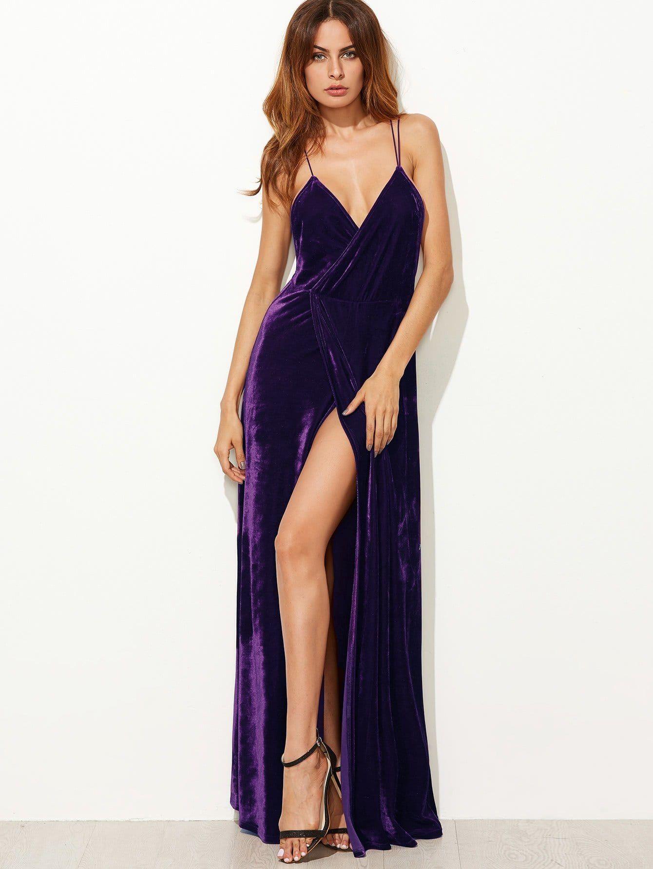 Strappy Backless Wrap Velvet Dress Backless Strappy Wrap Velvet Dress Long Backless Long Dress Summer Party Dress [ 1785 x 1340 Pixel ]