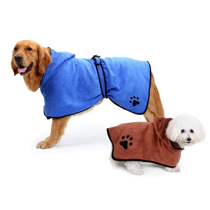 25ea088ba87bd Мягкий полотенце абсорбент халат сушка ванны вышивка для собак кошек  домашних животных зоотовары для собак кошек