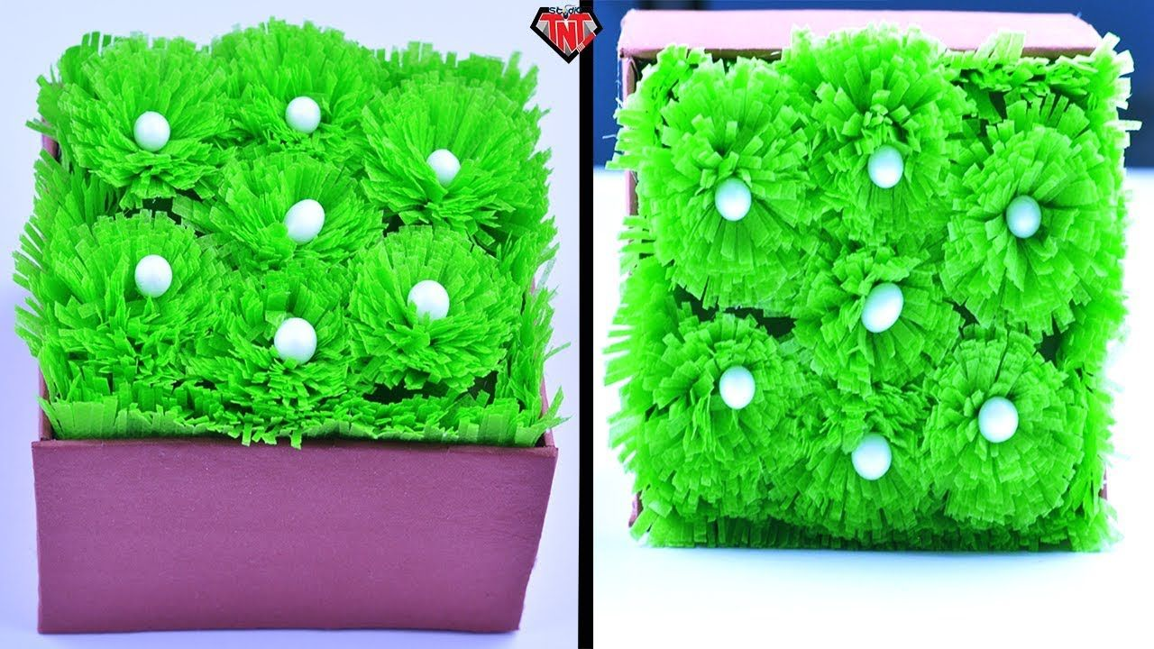 How To Make Grass With Fabric Bags Easy Diy Home Decor Idea