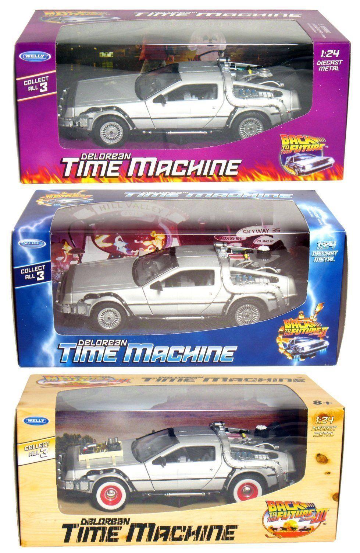 Delorean Time Machine 3pc Set Back To The Future Trilogy Part 1 2
