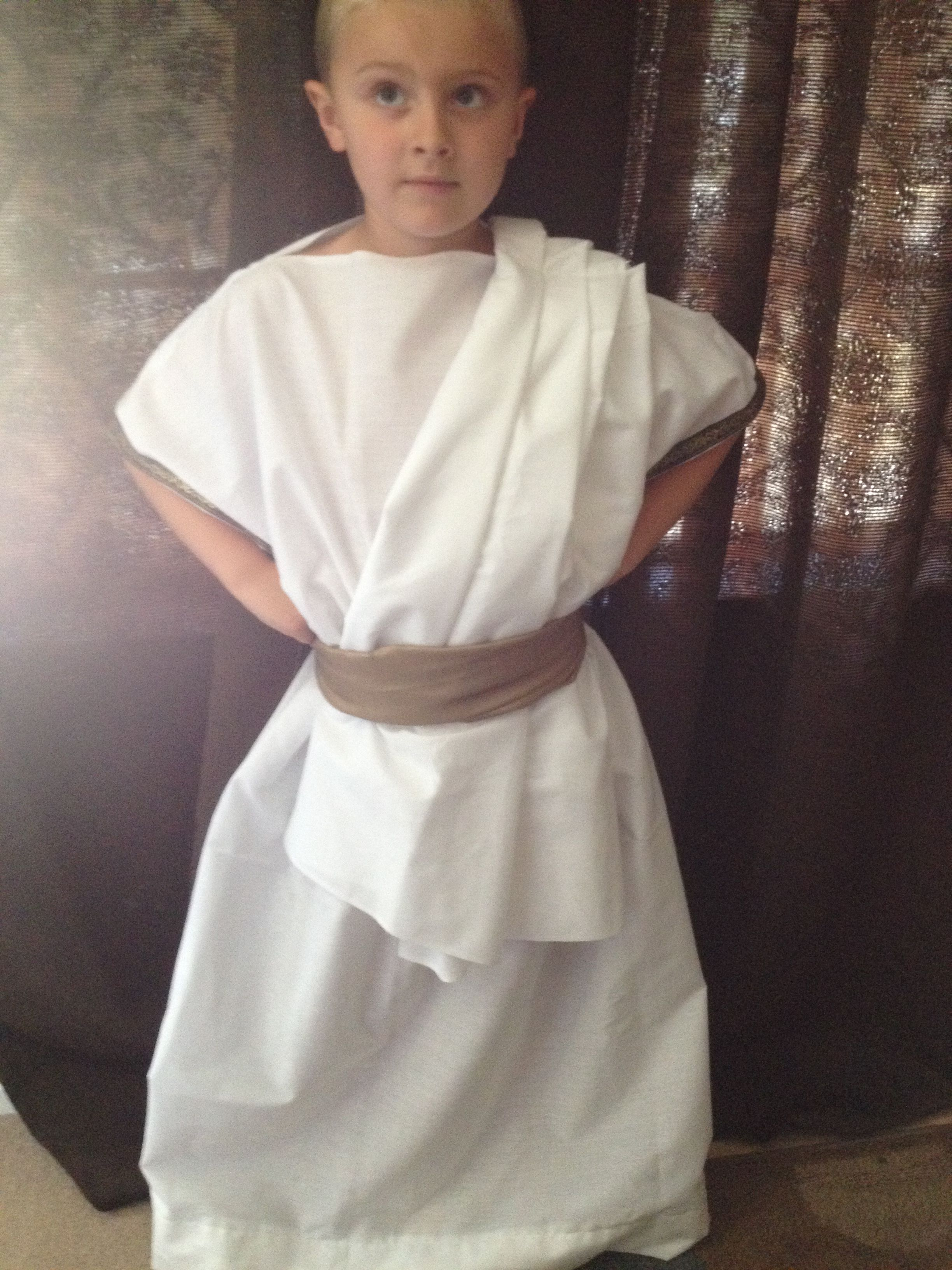 606ffb62e Greek Toga Boy Costume Diy Toga, Icarus Wings, Greek Toga, Toga Costume,