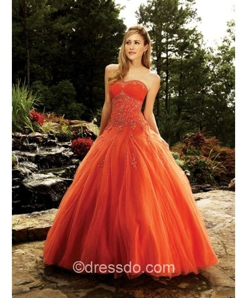 Orange Wedding Dress Orange Dress Wedding Orange Prom Dresses Prom Dresses Ball Gown