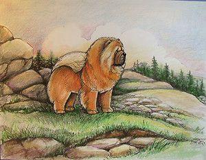 Artist: Kathleen Zins.  Favorite artist of Chow Chows.