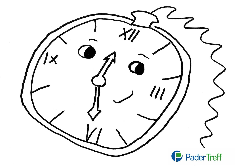 Ausmalbild Tickende Uhr 6 Malvorlage Uhr Ausmalbilder Kostenlos