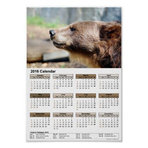 #Master #Bruin / #calendar #2016 #Poster  #calendar/#Kalender #2016 #DINA4 #Poster #pASob #Zazzle