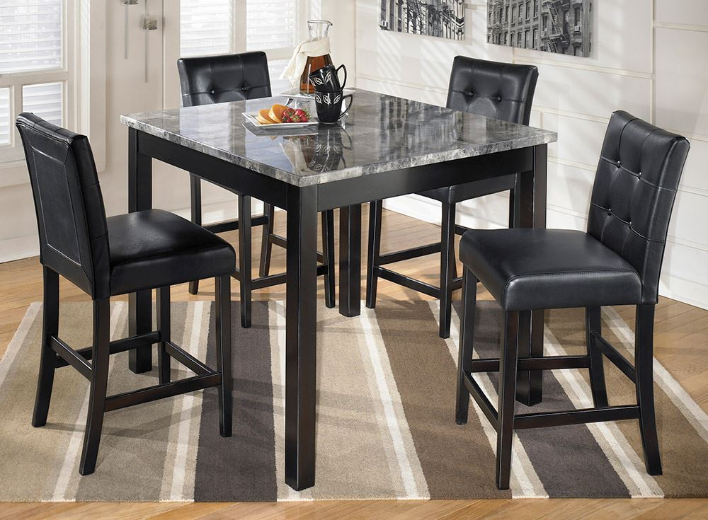 Maysville Counter Height Table With Four Stools High Dining