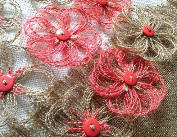 By The Dozen Burlap Flowers