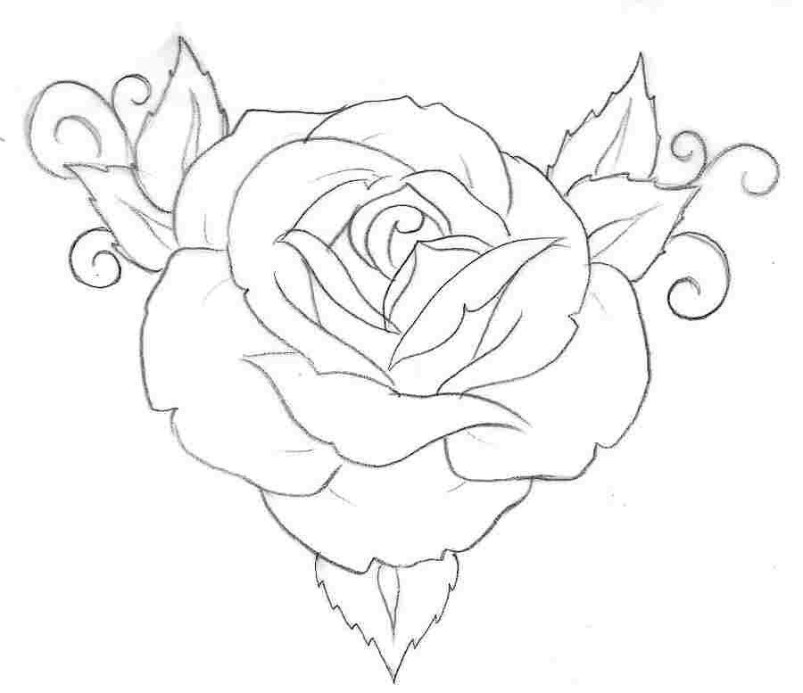 Simple Rose Tattoo Outline: Simple Rose Tattoo, Rose Tattoos, Jewelry Tattoo