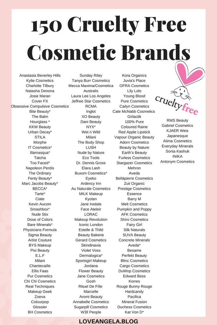 150 Cruelty Free Makeup & Cosmetic Brands (With images