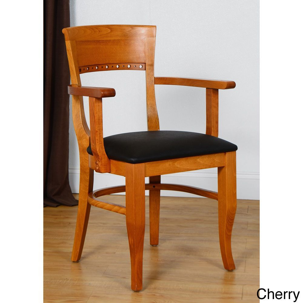 Biedermier Wooden Chair With Arms Wooden dining chairs