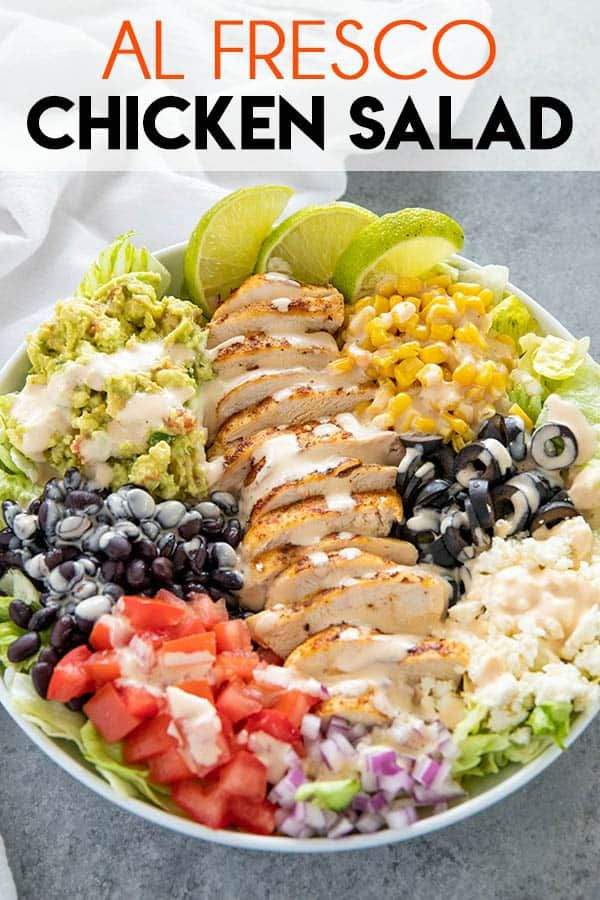 Al Fresco Salad Recipe is a healthy and delicious salad packed full of flavor and perfect for lunch or dinner! You can make this salad ahead for meal prep, or use it to serve a crowd.