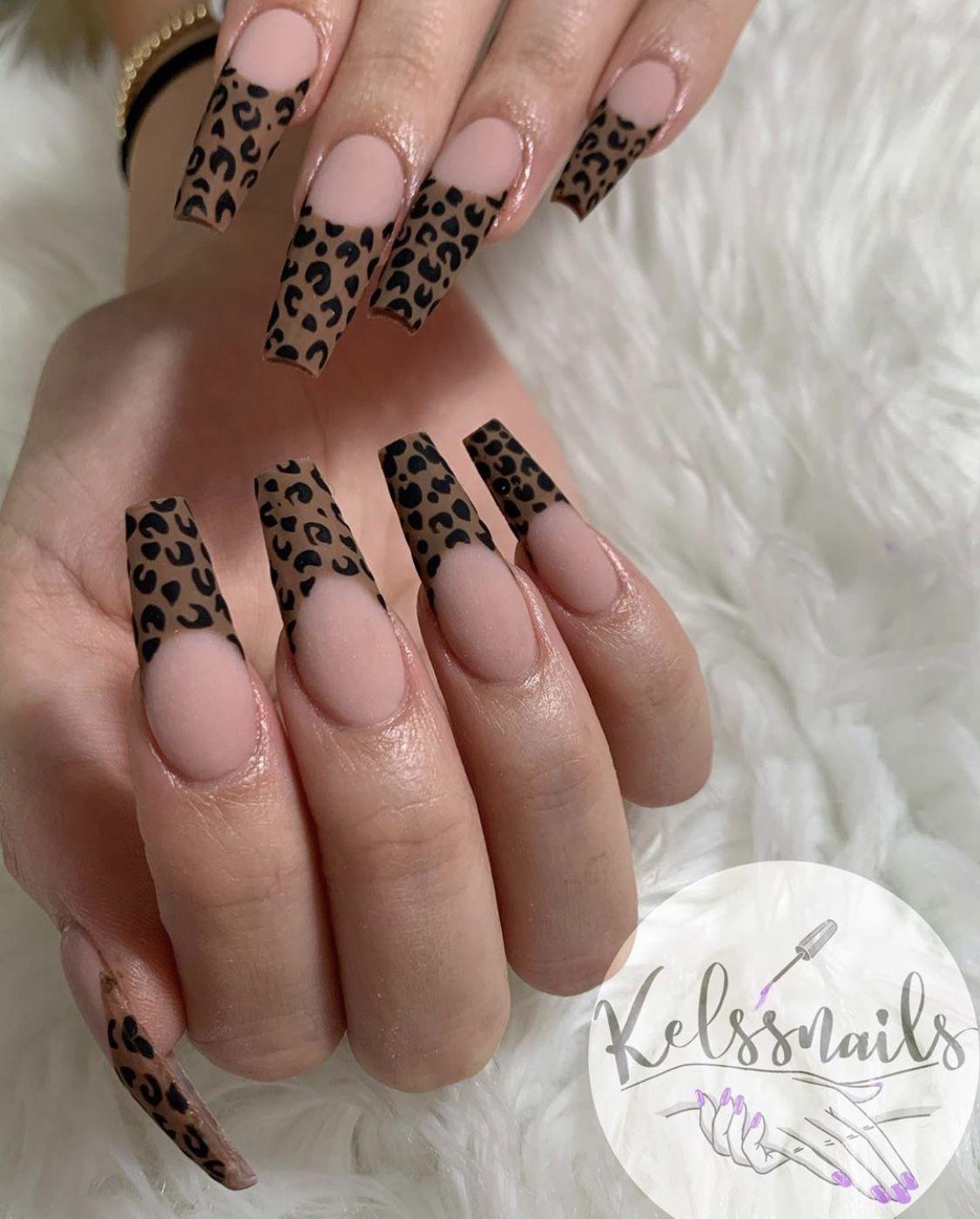 #nails #nailart #cheetah #nailtech #love
