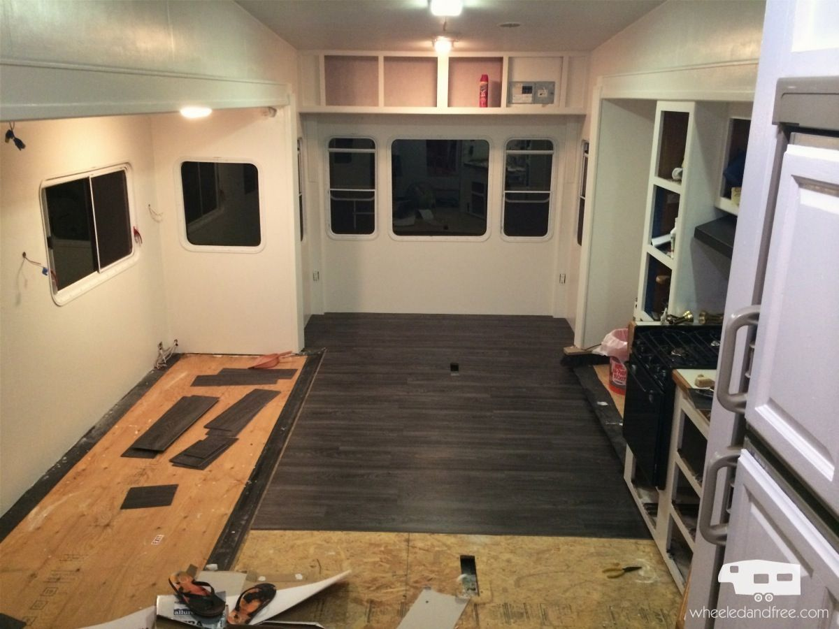 rv living room remodel mid renovation caravan ideas Pinterest