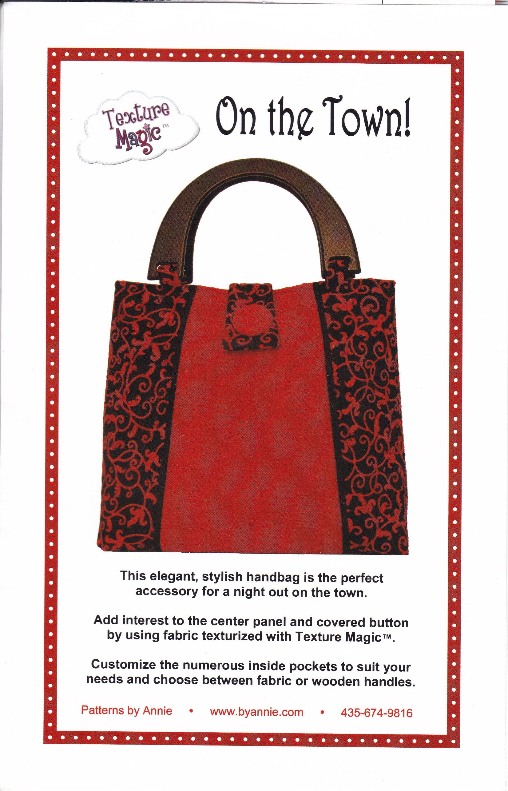 Free Us Ship Texture Magic Patterns By Annie On The Town Tote Bag