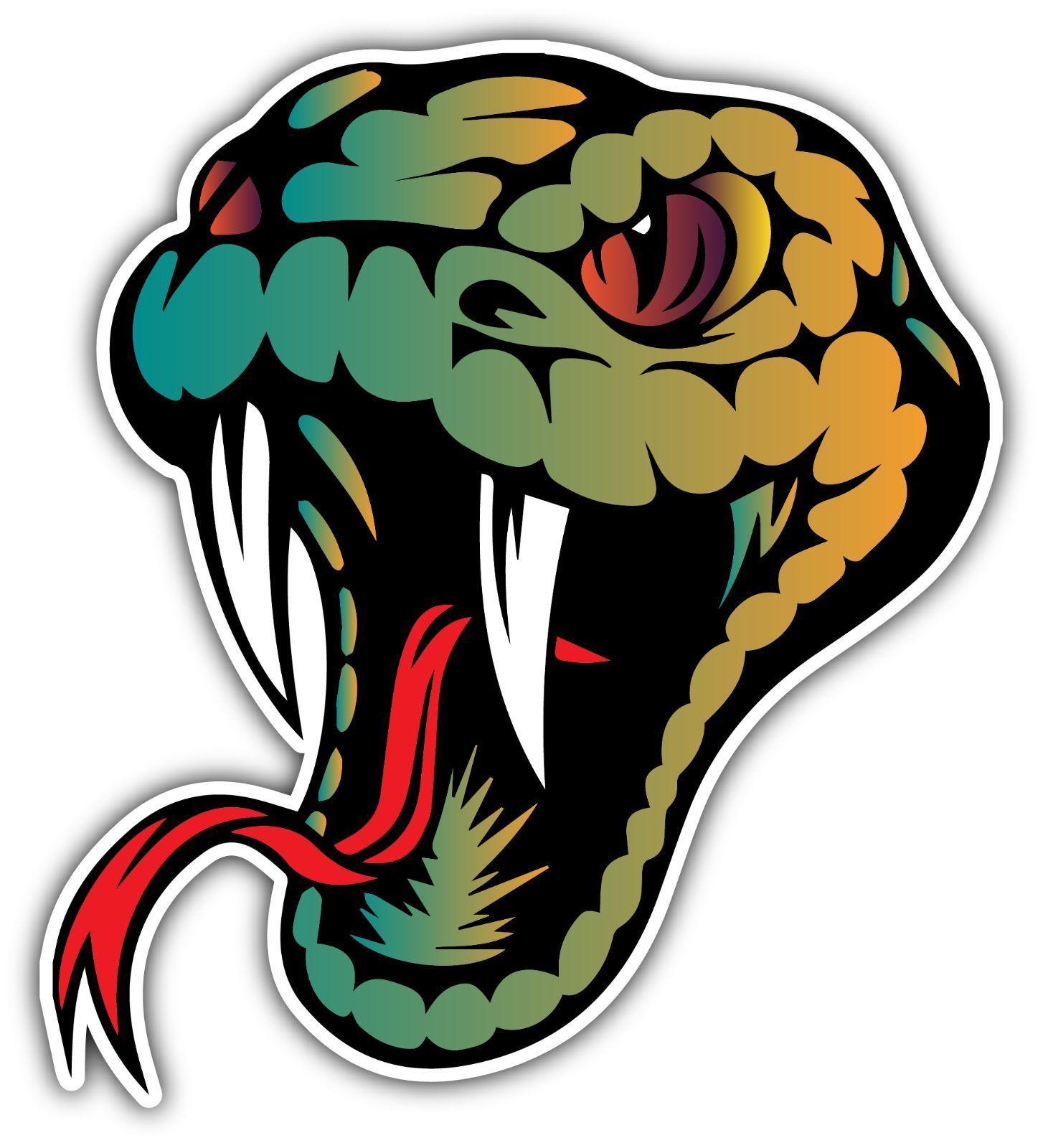 Snake Head Reptiles Lizard Viper Venom Bumper Window Vinyl Sticker Decal 4 X5 Stickers Vinyl Sticker Window Vinyl [ jpg ]