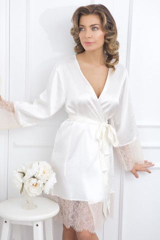 "Elegant Bride ""Embroidered"" Robe."