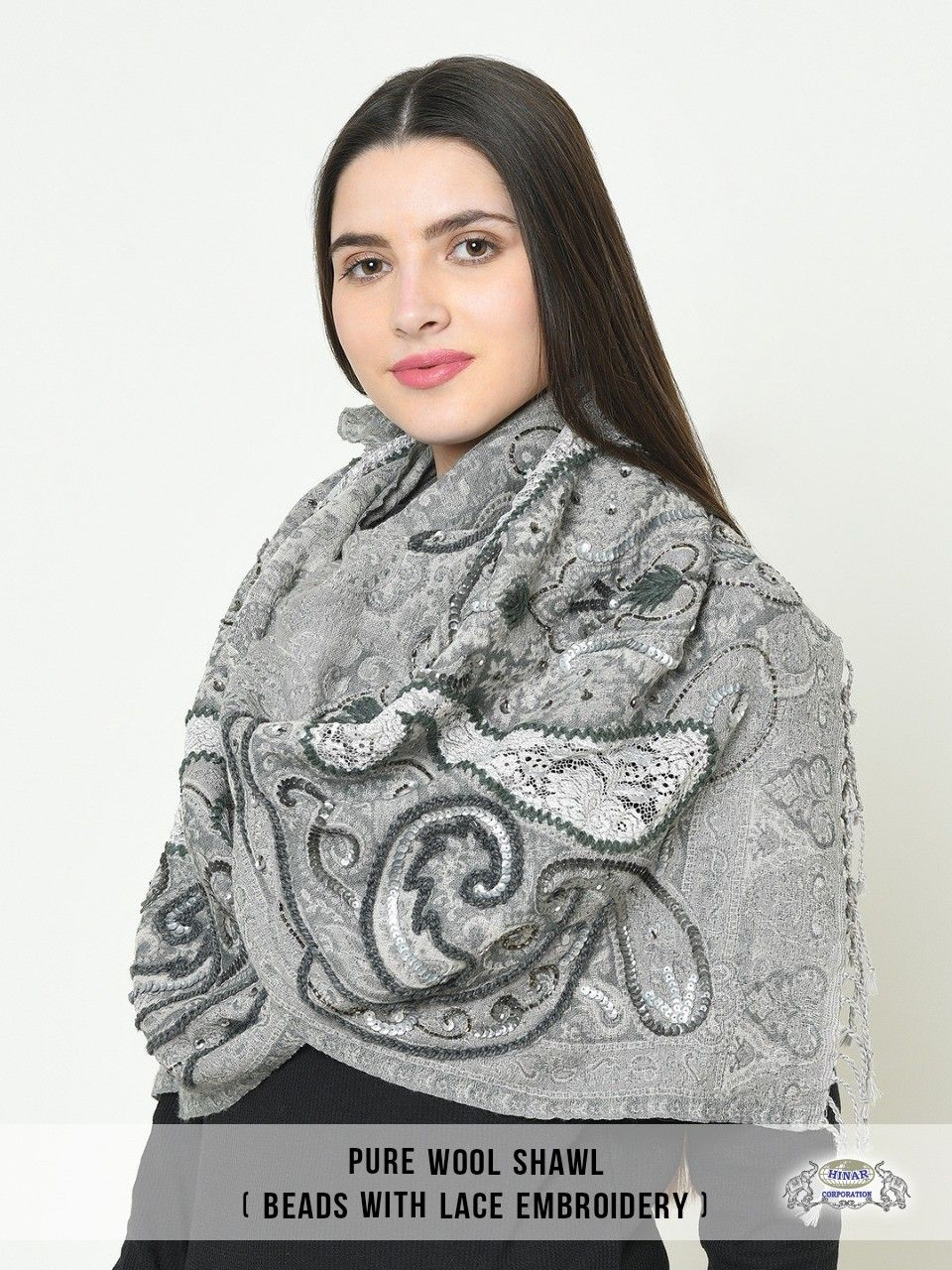 Pure wool shawl beaded with lace embroidery to wrap around this autumn winter season.  #purewool #woolshawls #shawl #shawltrends #shawlstyle #shawlmurah #shawlinstant #instashawl #instalike #instafashion #fashionmodel #fashionaccessories #shawlprinted #luxuryfashion #beaded #laceembroidery #embriodery #wintercollection #scarfseason #scarvescollection #fashionblogger #fashionstyle #luxurydesign #highquality #pashmina #mufflers #woolenshawl #instawrap