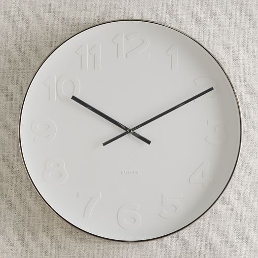 Oversized Modern White Black Wall Clock Mr West Elm