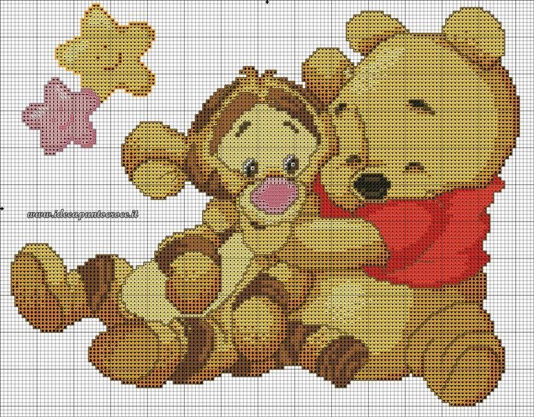 Schemi winnie the pooh idee a punto croce punto croce for Winnie the pooh punto croce schemi