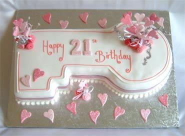 Excellent 21St Birthday Key Cake 21St Birthday Cakes Cake Designs Funny Birthday Cards Online Alyptdamsfinfo