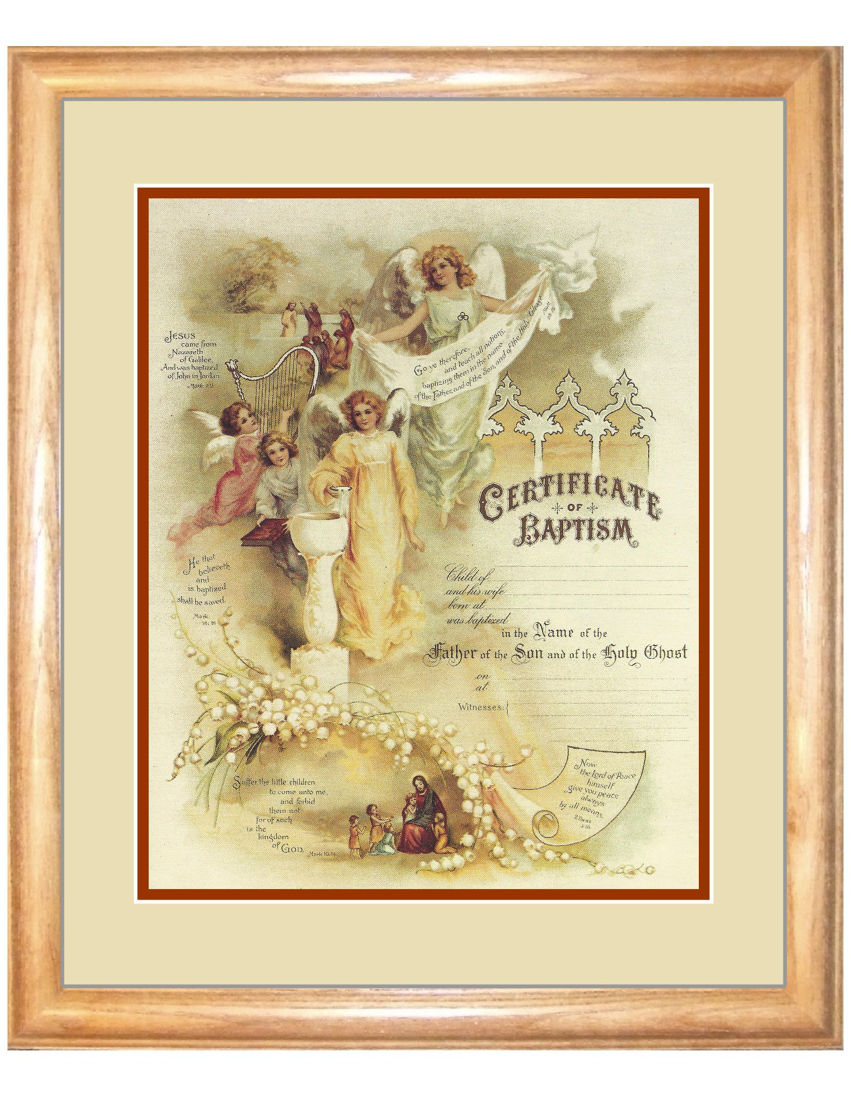 http www amenchristiancalligraphy com baptism certificate 11x14