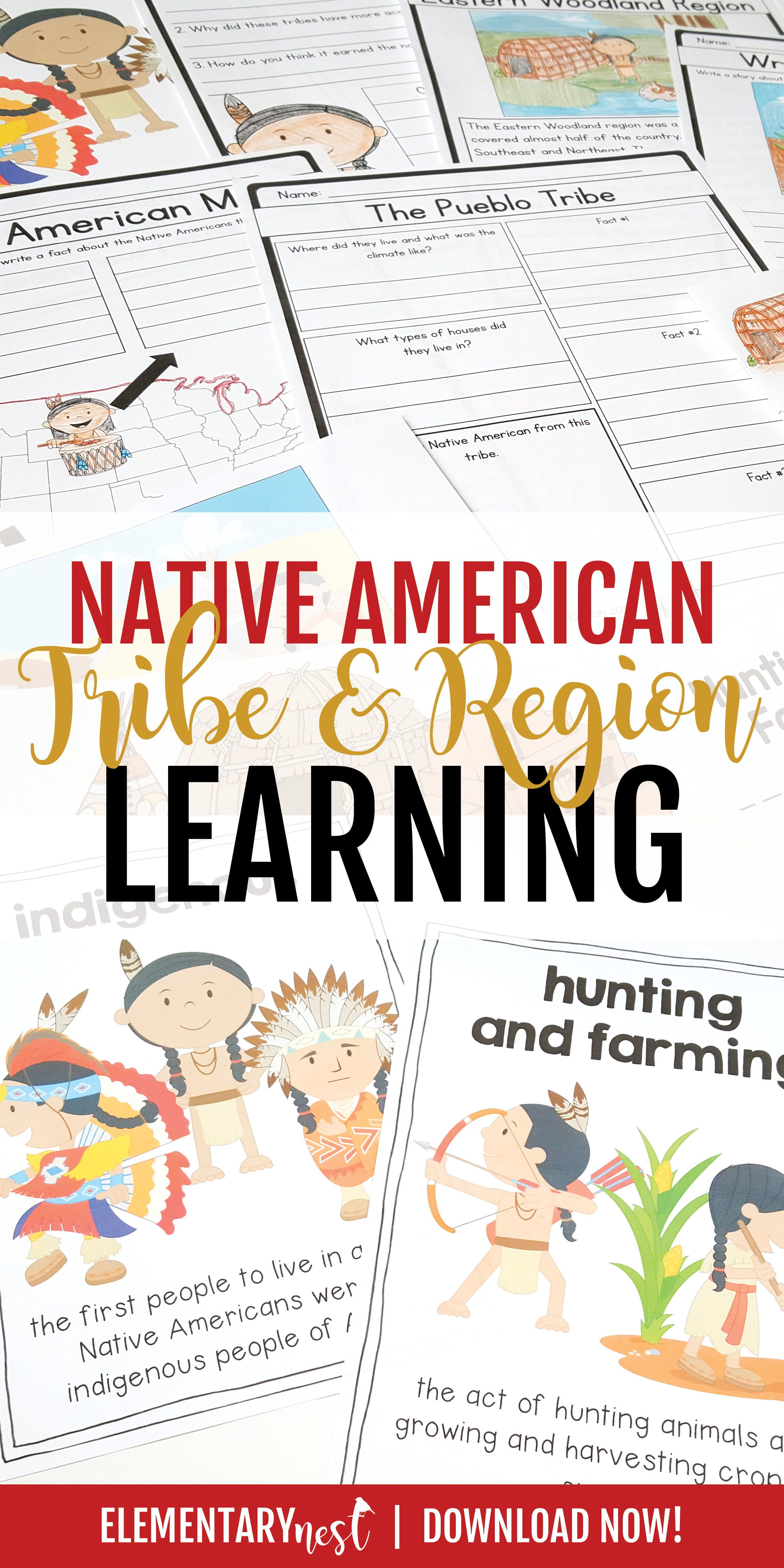 Native Americans Unit Thanksgiving Activities For Social