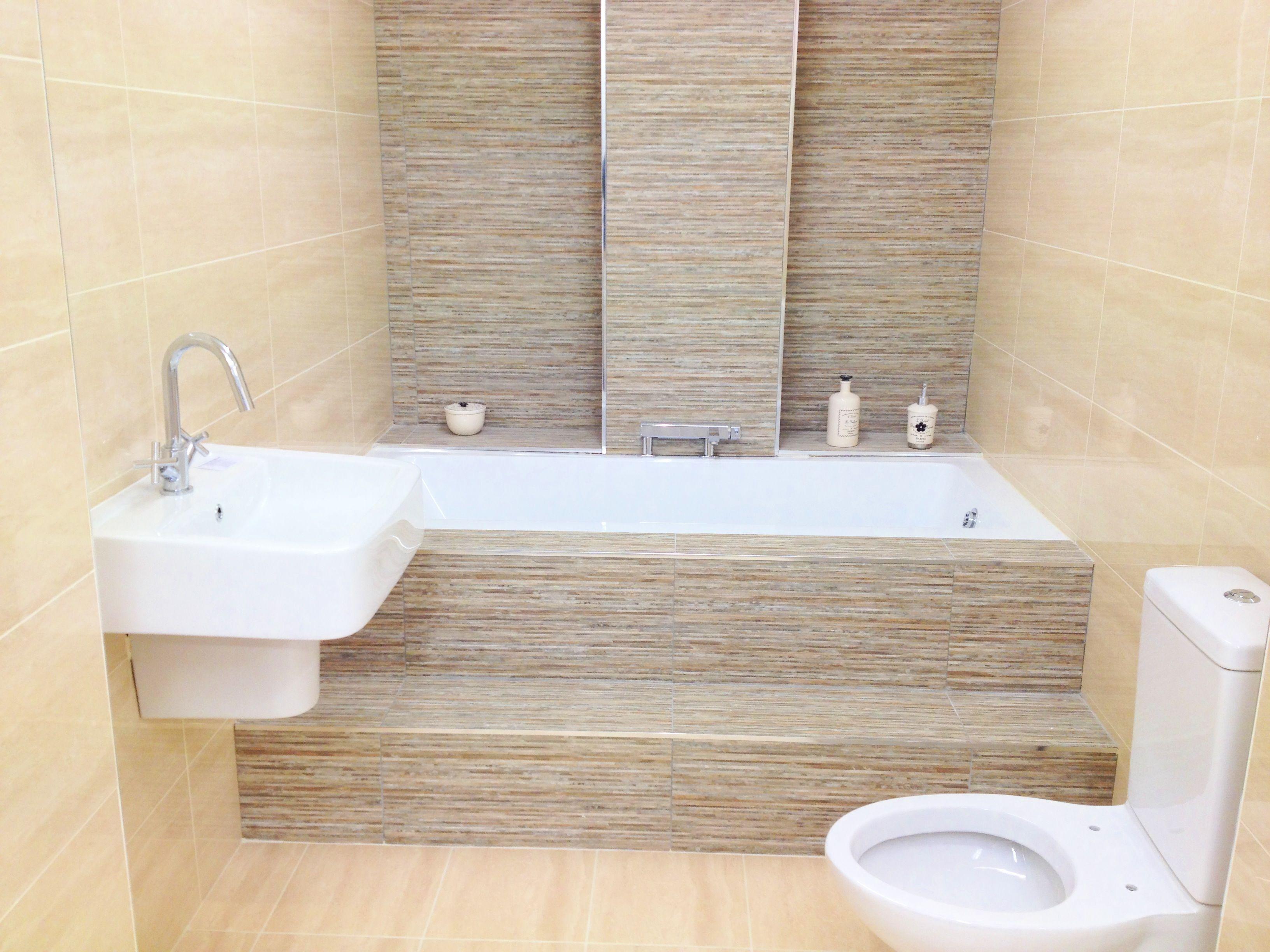 Tile Decoration Tiled Bathroom Sandy  Google Search  Ванная Комната  Pinterest