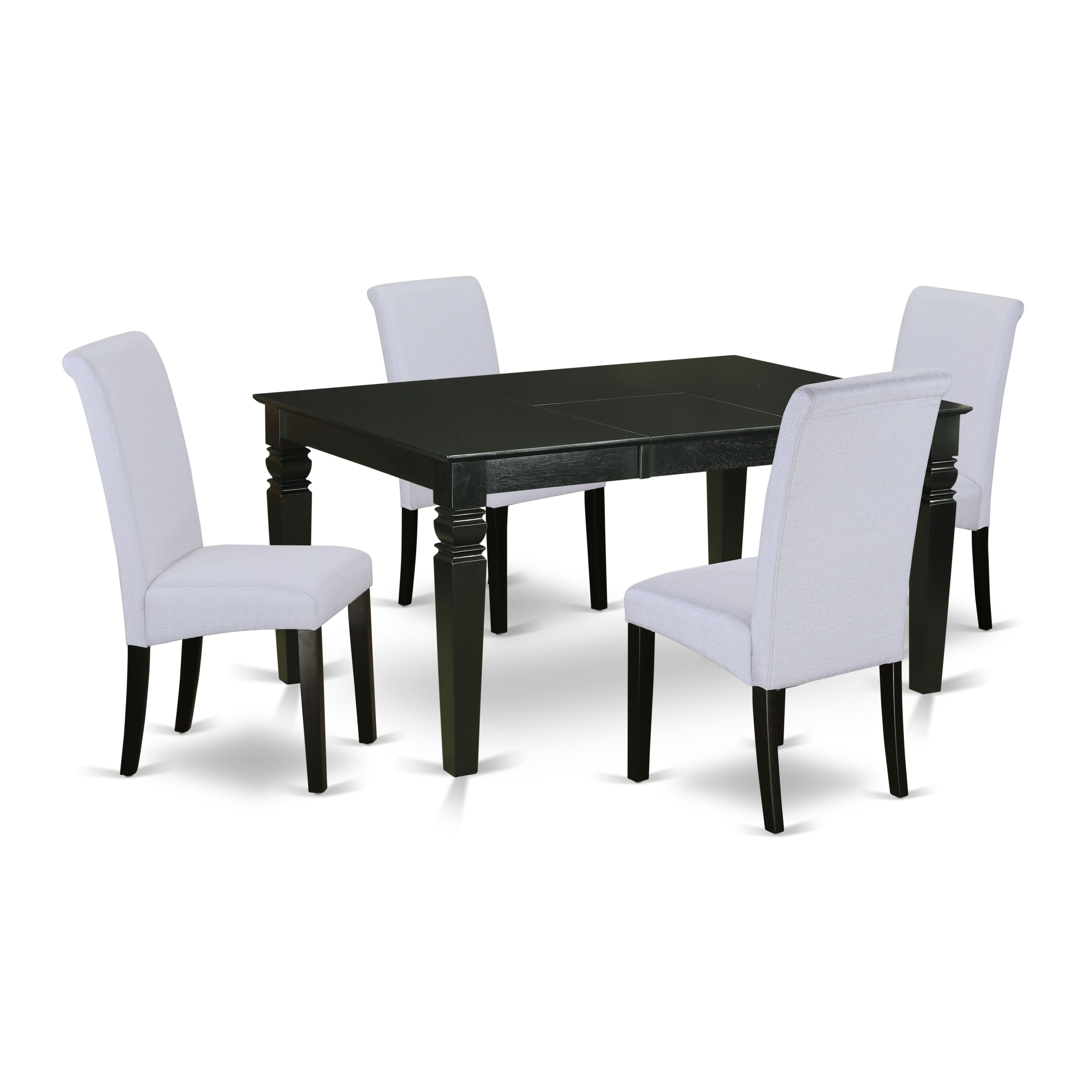 Stupendous 5Pc Rectangular Kitchen Table With Elegant Parson Chairs Onthecornerstone Fun Painted Chair Ideas Images Onthecornerstoneorg