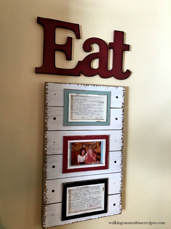 Old Family Recipe Cards: How to Create DIY Kitchen Art   Pinterest ...