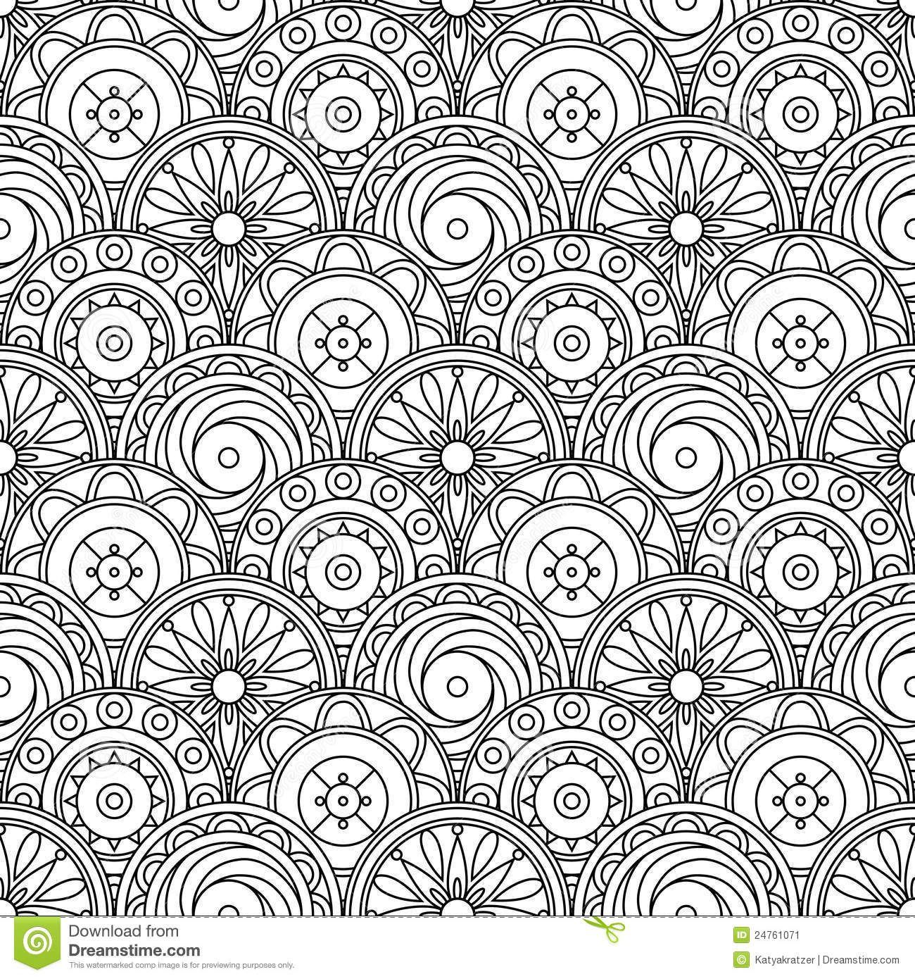 abstract doodle Coloring pages colouring adult detailed advanced ...
