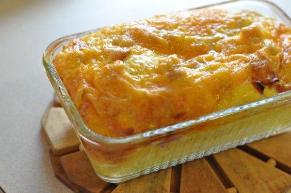Σουφλέ+με+ψωμί+του+τοστ+τυριά+και+μπέικον